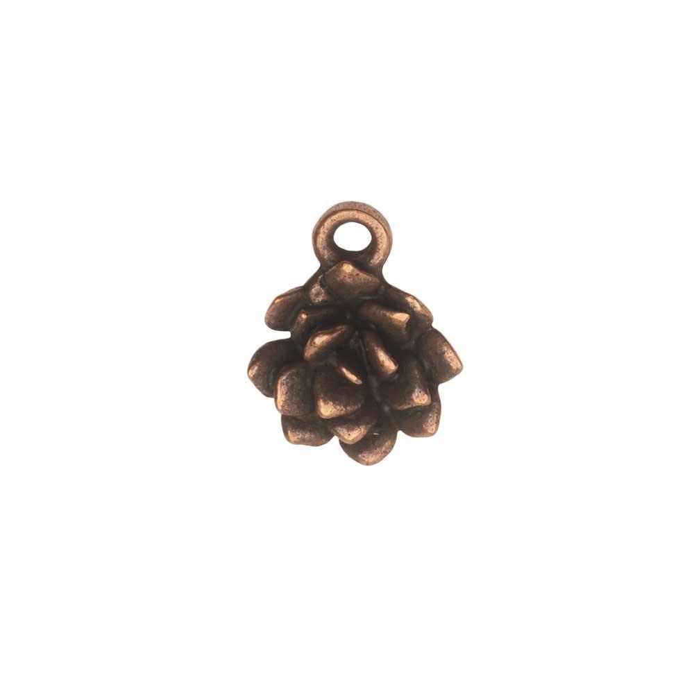 Metal Charm, Succulent 12x15mm, Antiqued Copper, 1 Piece, by Nunn Design