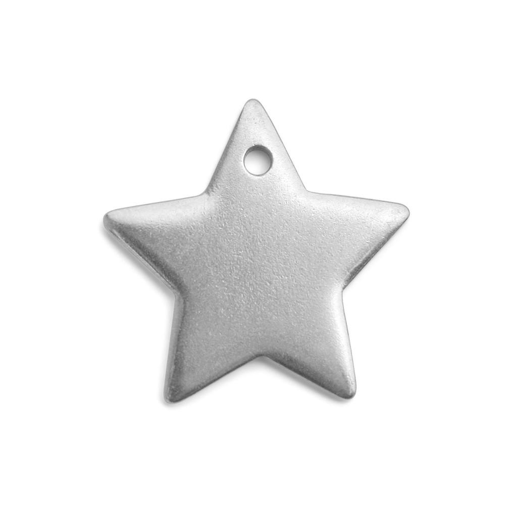 Final Sale - ImpressArt Soft Strike Stamping Blank, Star Pendant 1