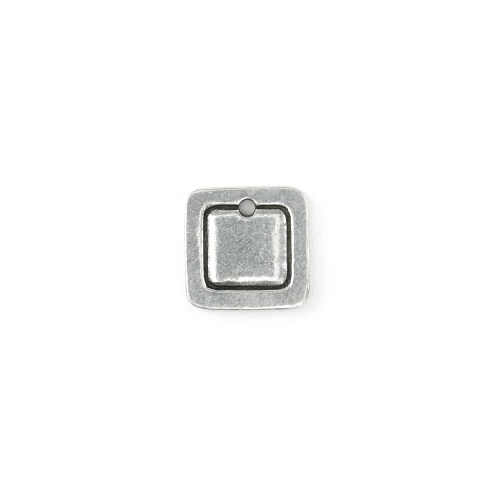 Final Sale - ImpressArt Soft Strike Stamping Blank, Flat Square Pendant 3/4