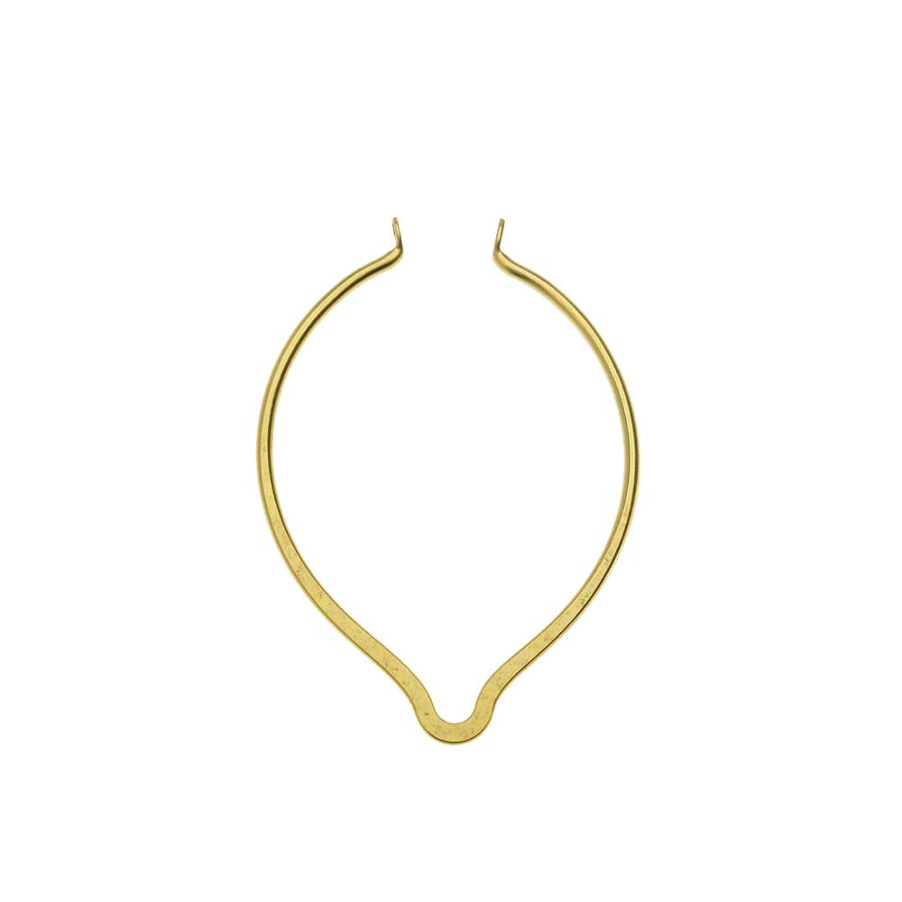 Nunn Design Open Frame Pendant, Oval Point 37x51.5mm, 1 Piece, Antiqued Gold
