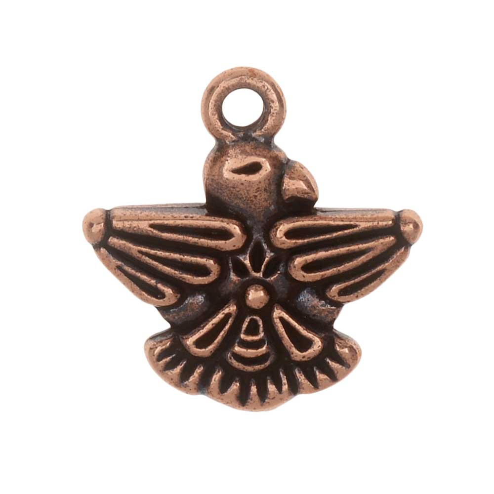 TierraCast Pewter Charm, Thunderbird 19mm, 1 Piece, Antiqued Copper Plated