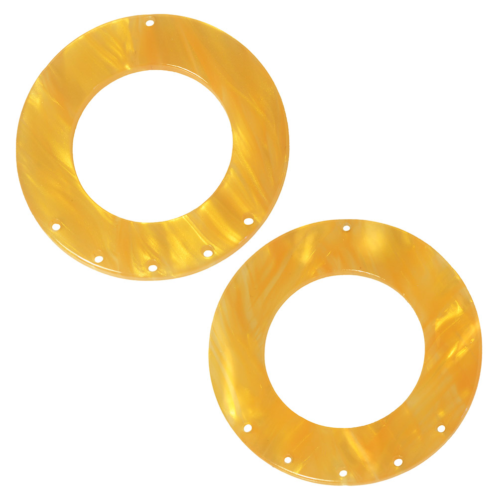Zola Elements Acetate Pendant Link, 5 to 1 Round Chandelier 38mm, 2 Pieces, Honeycomb
