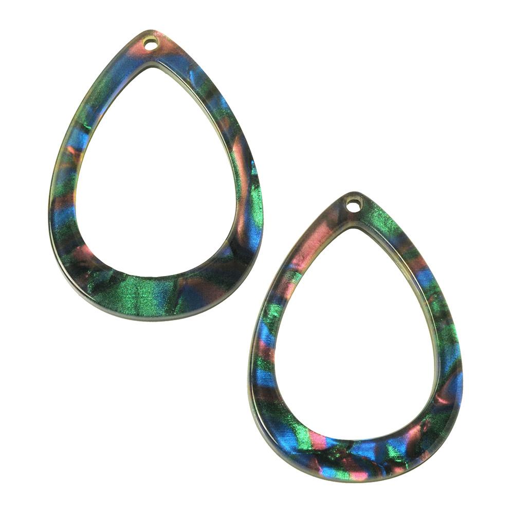 Zola Elements Acetate Pendant, Drop 22x31mm, 2 Pieces, Moondance