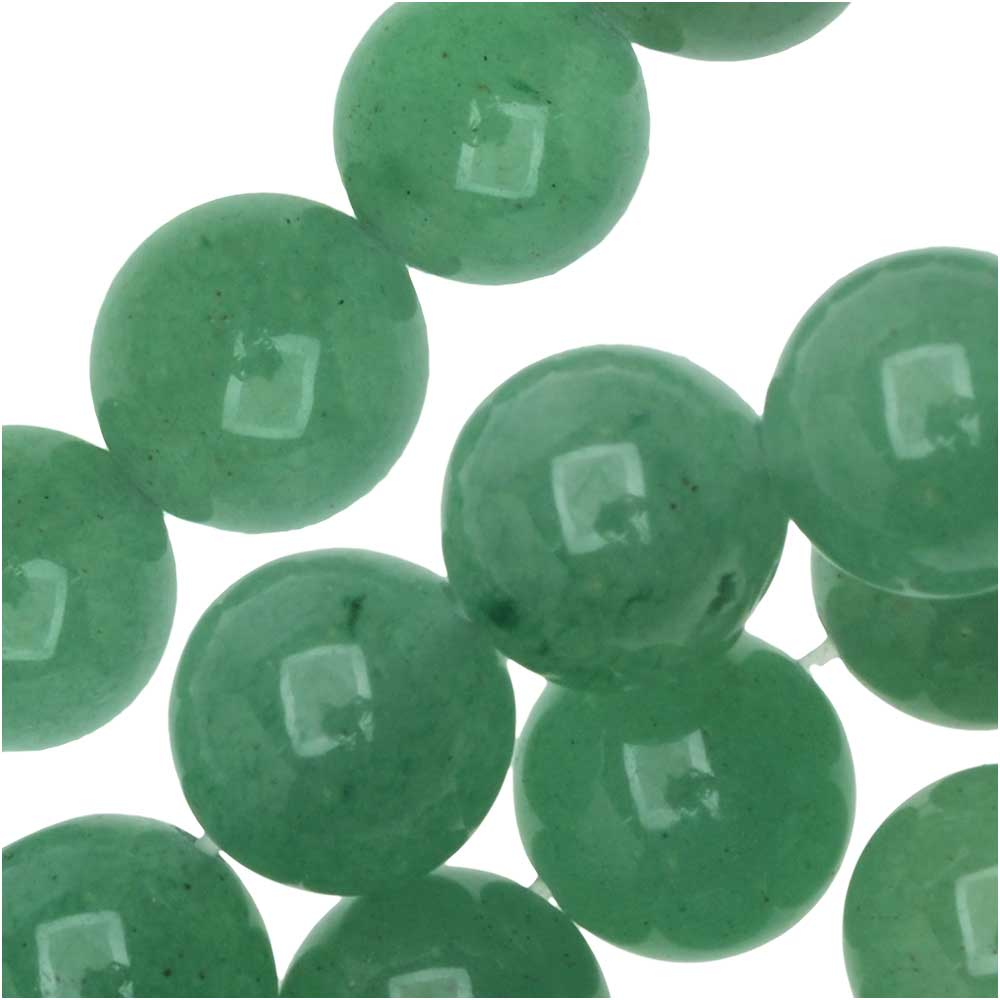 Dakota Stones Gemstone Beads, Green Aventurine, Round 8mm, 8 Inch Strand