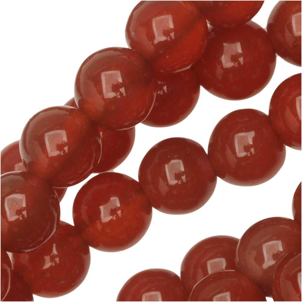 Dakota Stones Gemstone Beads, Red Carnelian, Round 6mm, 8 Inch Strand