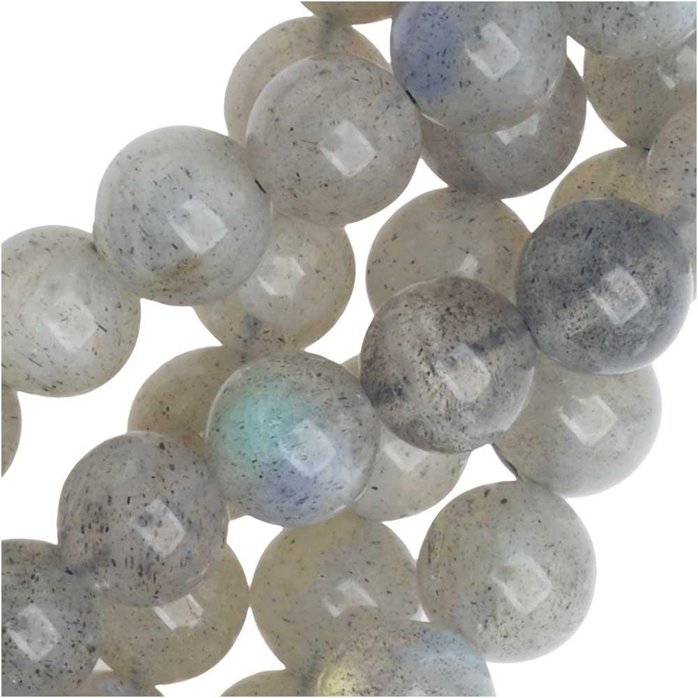 Dakota Stones Gemstone Beads, Labradorite, Round 6mm, 8 Inch Strand