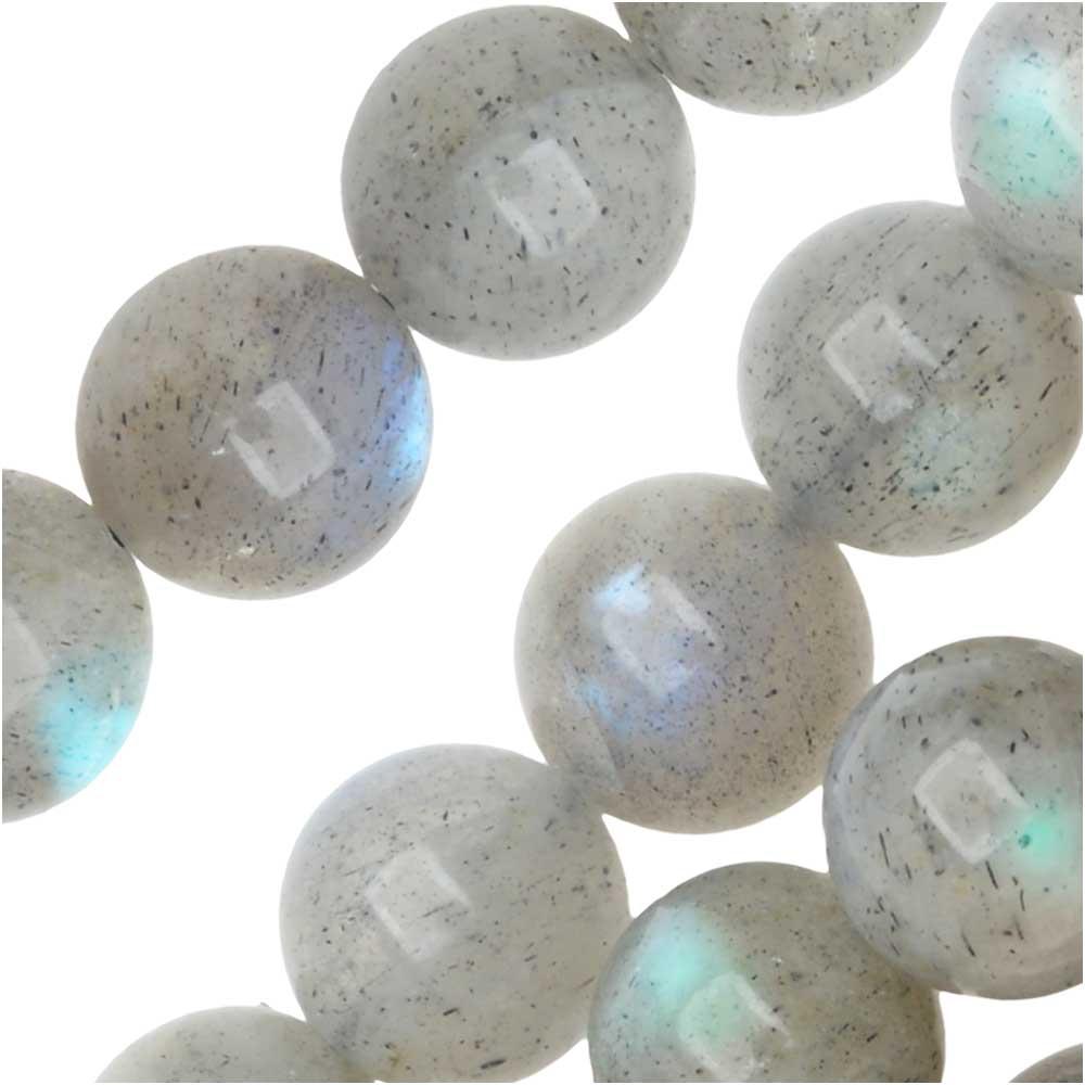 Dakota Stones Gemstone Beads, Labradorite, Round 8mm, 8 Inch Strand
