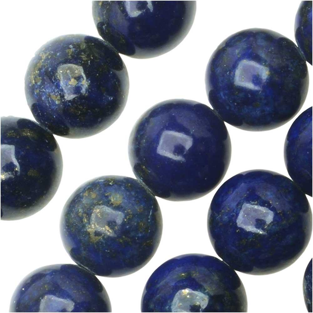 Dakota Stones Gemstone Beads, Lapis Lazuli, Round 8mm, 8 Inch Strand