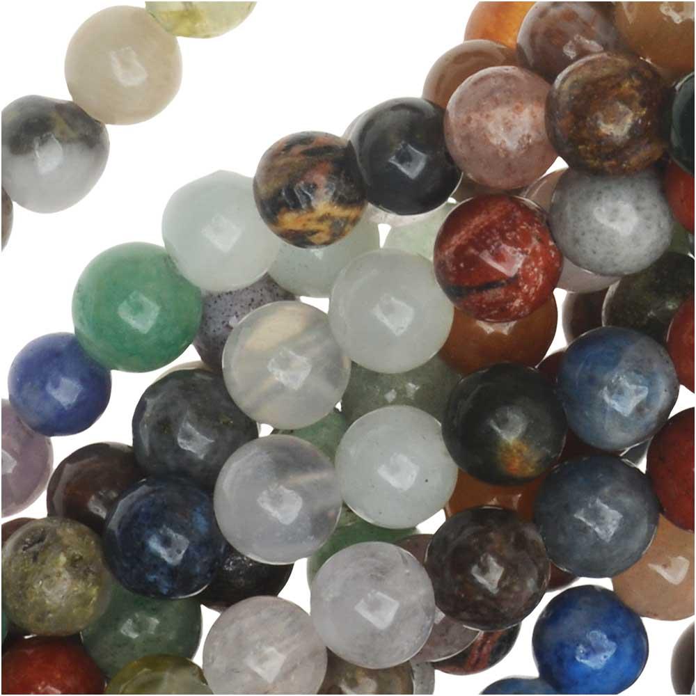 Dakota Stones Gemstone Beads, Mixed Stones, Round 4mm, 16 Inch Strand