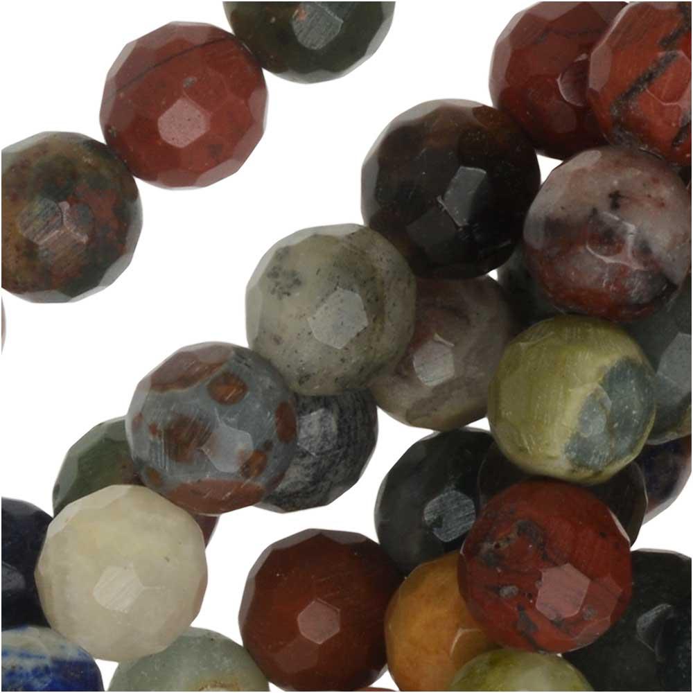 Dakota Stones Gemstone Beads, Mixed Stones, Faceted Round 6mm, 15 Inch Strand
