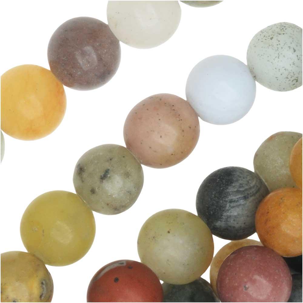 Dakota Stones Gemstone Beads, Mixed Stones, Matte Round 6mm, 15.75 Inch Strand