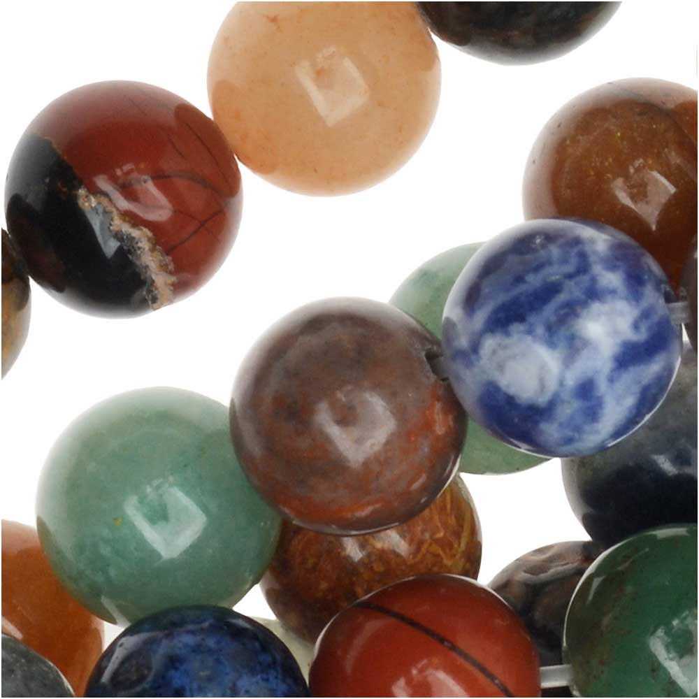Dakota Stones Gemstone Beads, Mixed Stones, Round 8mm, 15.5 Inch Strand