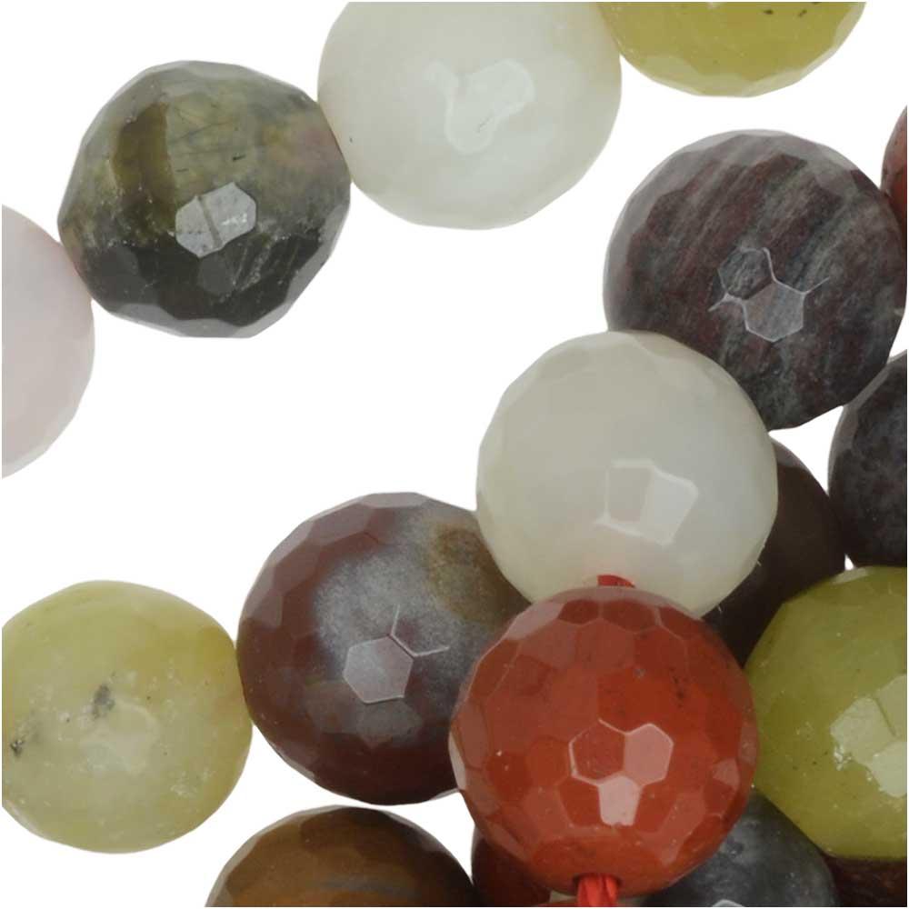Dakota Stones Gemstone Beads, Mixed Stones, Faceted Round 8mm, 15.5 Inch Strand