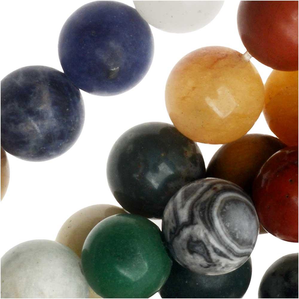 Dakota Stones Gemstone Beads, Mixed Stones, Matte Round 8mm, 15.75 Inch Strand