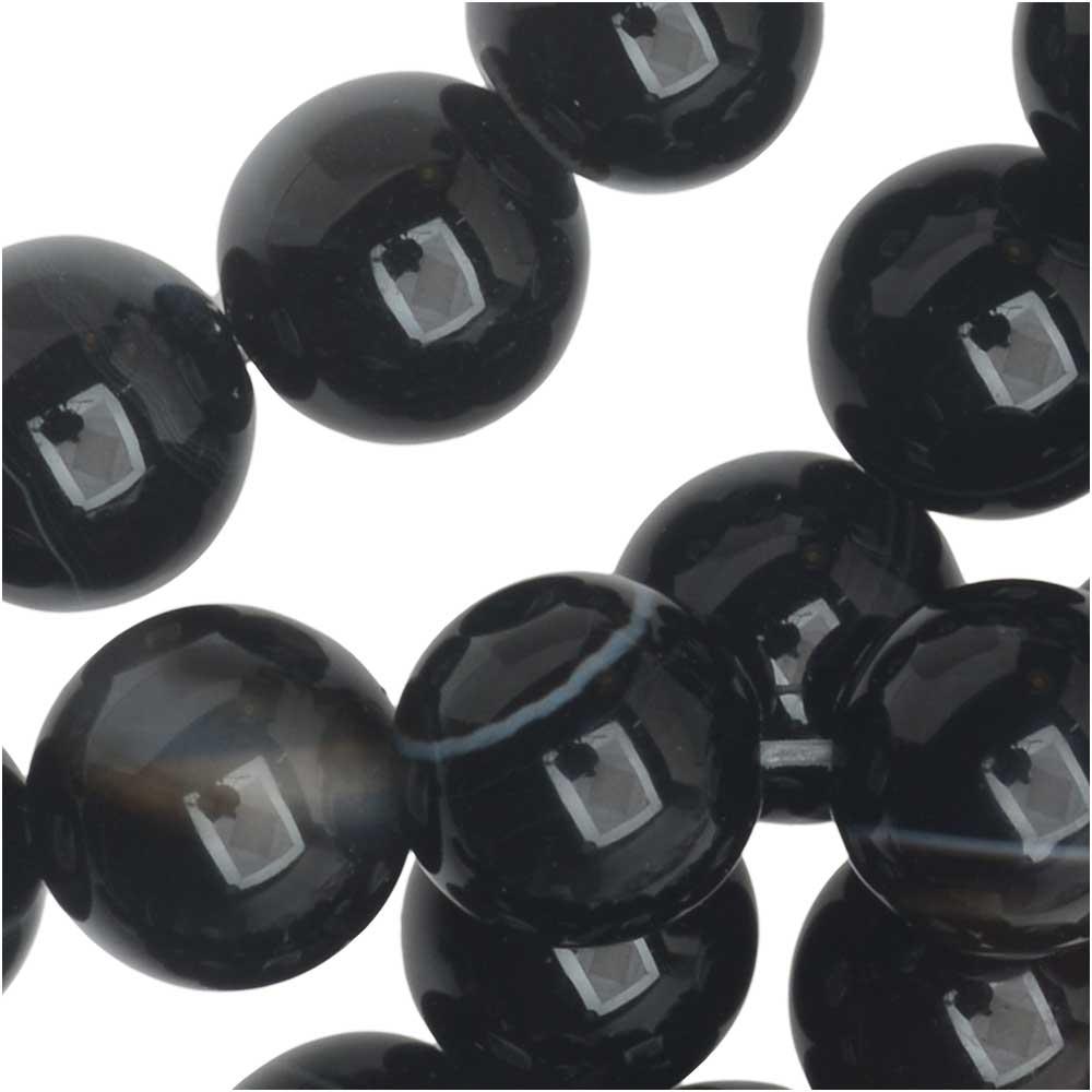 Dakota Stones Gemstone Beads, Sardonyx, Round 8mm, 8 Inch Strand