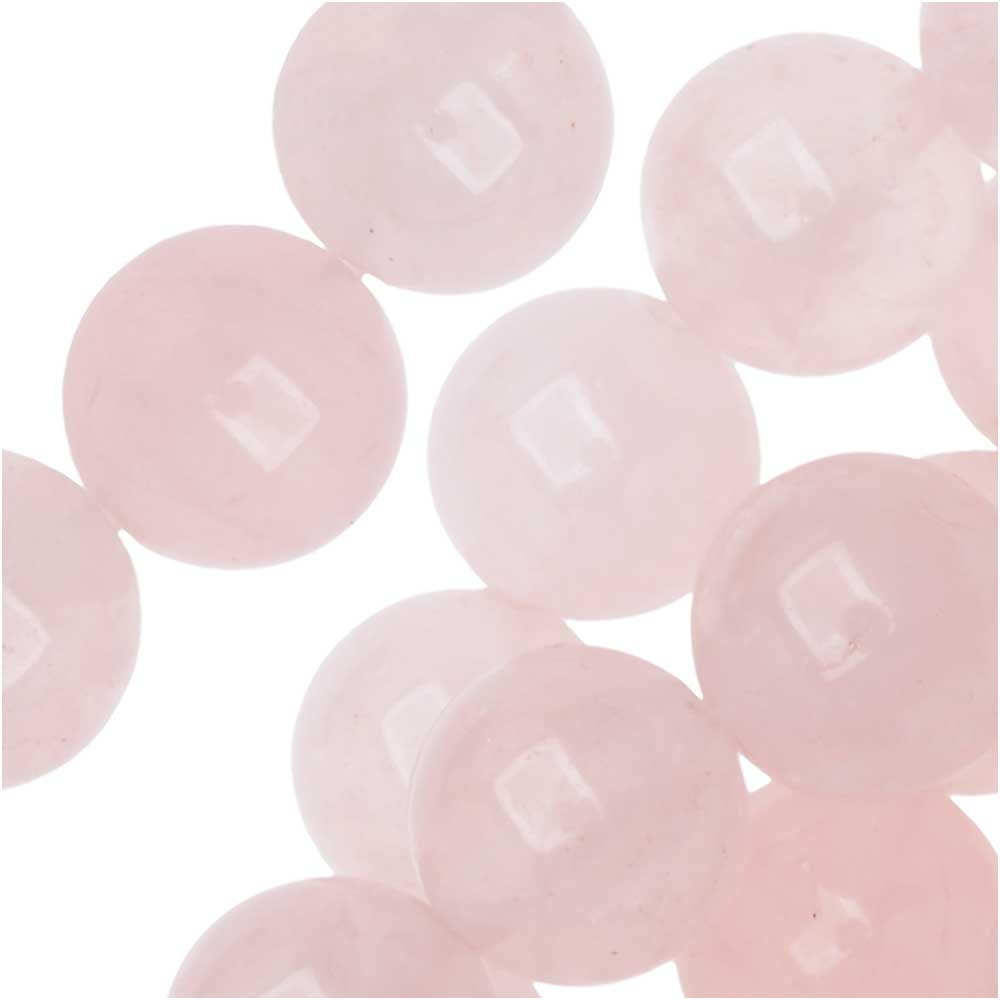 Dakota Stones Gemstone Beads, Rose Quartz, Round 8mm, 8 Inch Strand