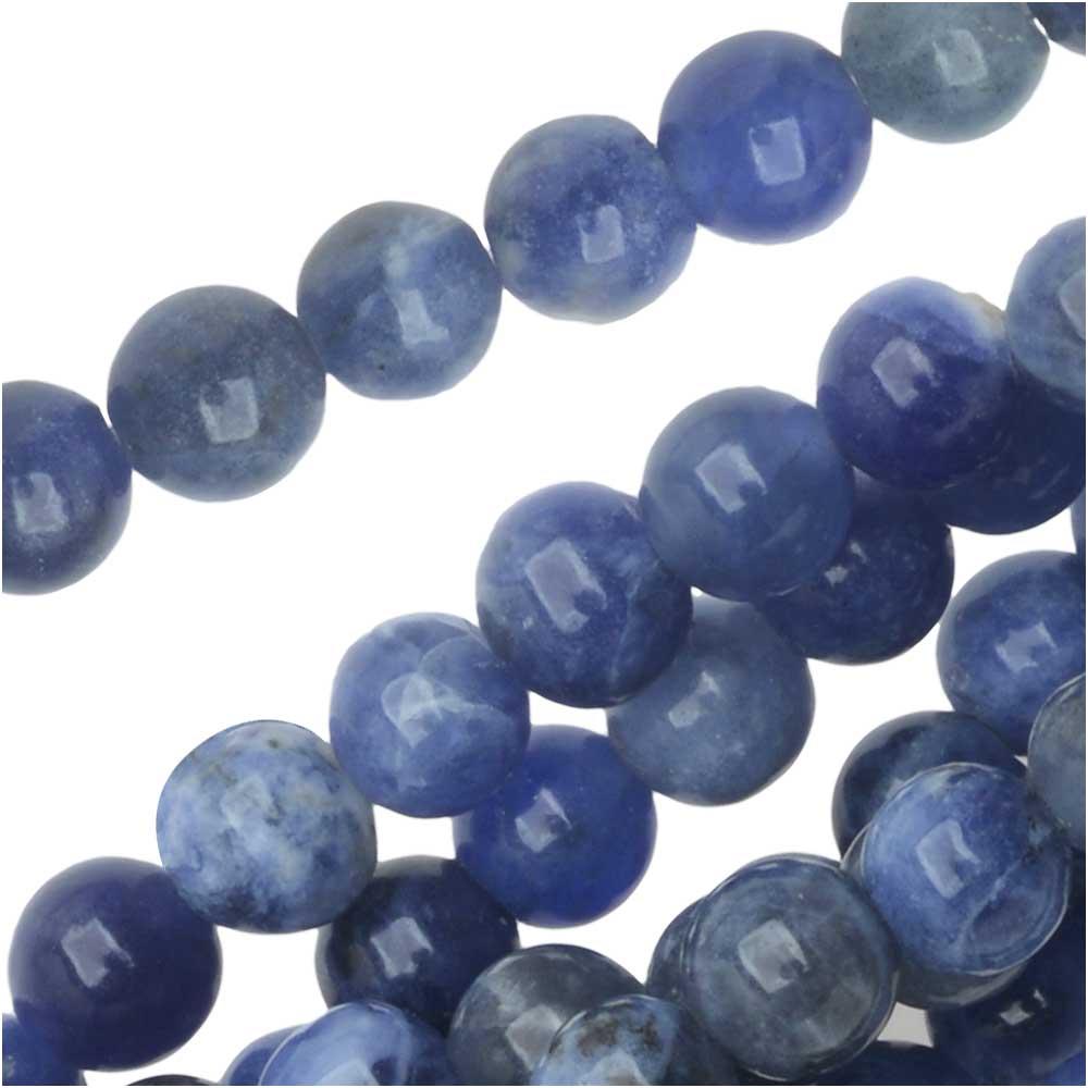 Dakota Stones Gemstone Beads, Blue Sodalite, Round 4mm, 8 Inch Strand