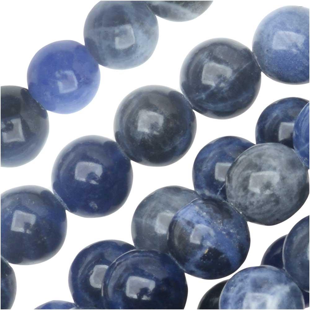 Dakota Stones Gemstone Beads, Blue Sodalite, Round 6mm, 8 Inch Strand