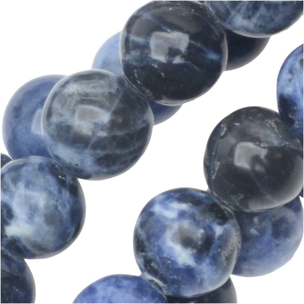 Dakota Stones Gemstone Beads, Blue Sodalite, Round 8mm, 8 Inch Strand