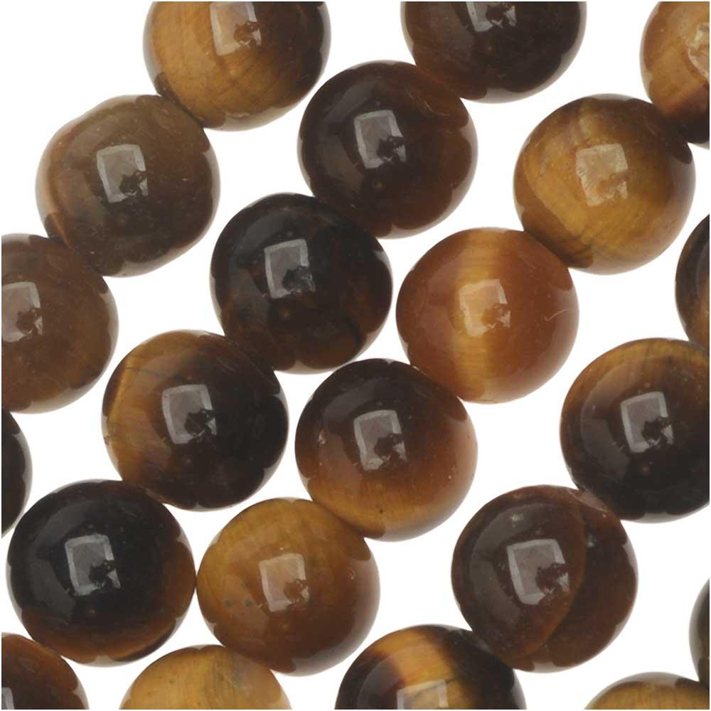 Dakota Stones Gemstone Beads, Tiger Eye, Round 6mm, 8 Inch Strand