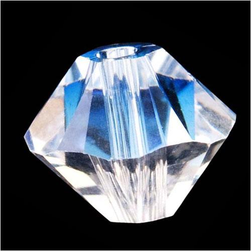 Swarovski Crystal, #5328 Bicone Beads 3mm, 25 Pieces, Crystal Moonlight