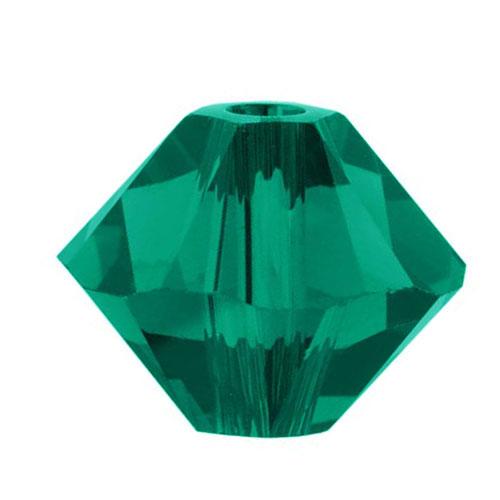 Swarovski Crystal, #5328 Bicone Beads 3mm, 25 Pieces, Emerald