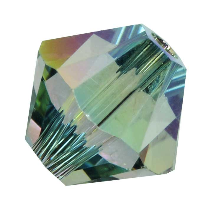 Swarovski Crystal, #5328 Bicone Beads 3mm, 25 Pieces, Crystal Paradise Shine