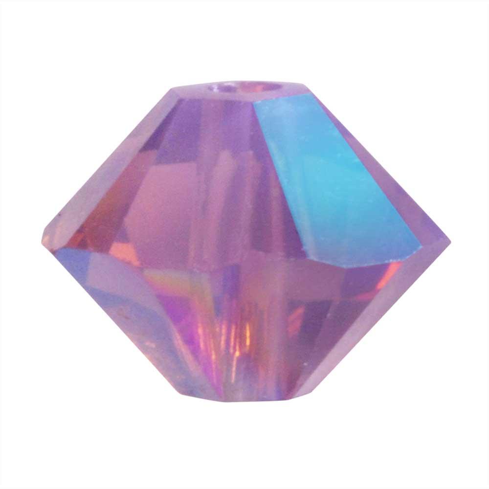 Swarovski Crystal, #5328 Bicone Beads 3mm, 25 Pieces, Cyclamen Opal Shimmer