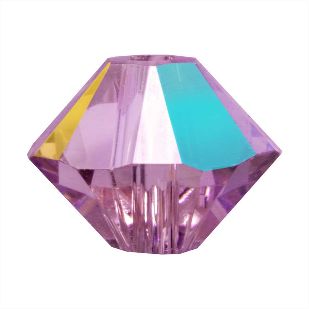 Swarovski Crystal, #5328 Bicone Beads 3mm, 25 Pieces, Iris AB