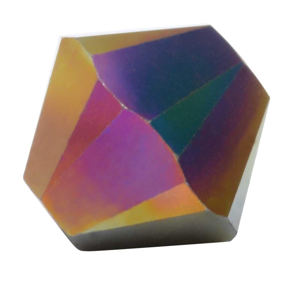 Swarovski Crystal, #5328 Bicone Beads 5mm, 20 Pieces, Crystal Rainbow Dark 2X