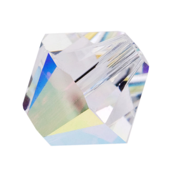 Swarovski Crystal, #5328 Bicone Beads 4mm, 24 Pieces, Crystal AB