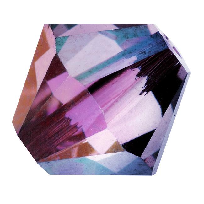 Swarovski Crystal, #5328 Bicone Beads 4mm, 24 Pieces, Crystal Lilac Shadow