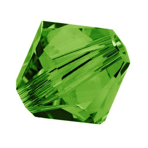 Swarovski Crystal, #5328 Bicone Beads 4mm, 24 Pieces, Dark Moss Green