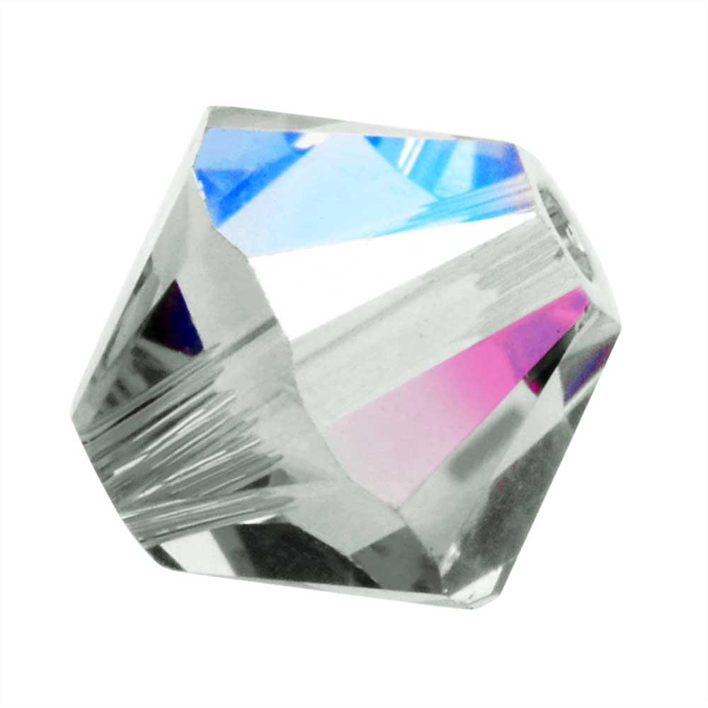Swarovski Crystal, #5328 Bicone Beads 4mm, 24 Pieces, Black Diamond Shimmer