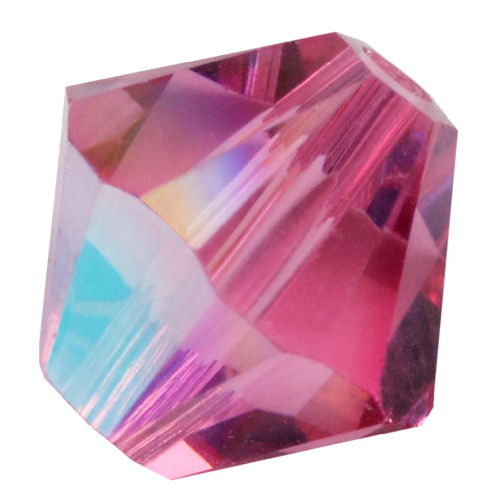 Swarovski Crystal, #5328 Bicone Beads 6mm, 20 Pieces, Rose Shimmer
