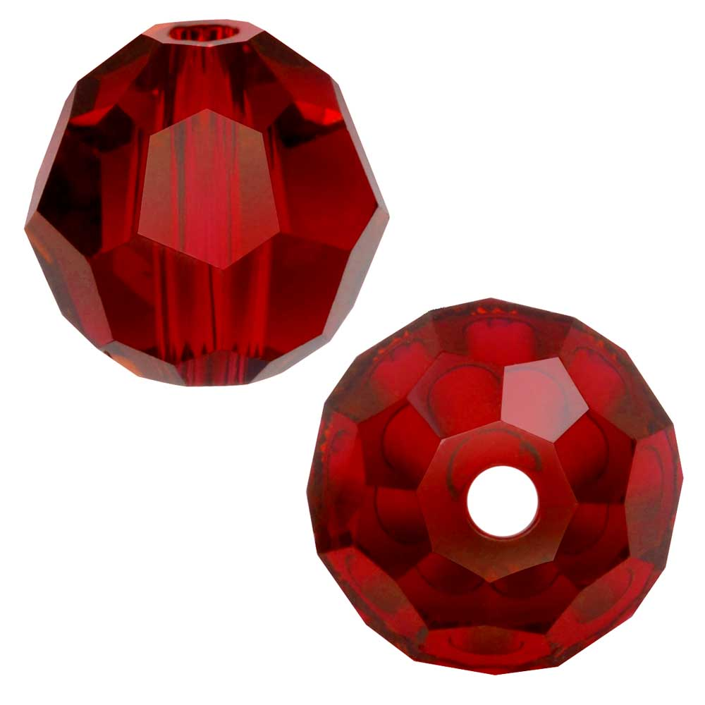 Swarovski Crystal, #5000 Round Beads 10mm, 6 Pieces, Scarlet
