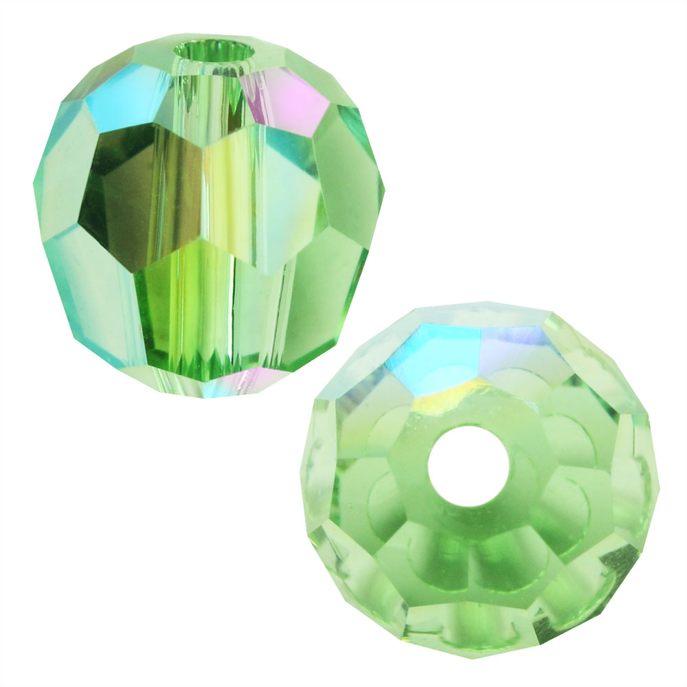 Swarovski Crystal, #5000 Round Beads 4mm, 12 Pieces, Peridot Shimmer