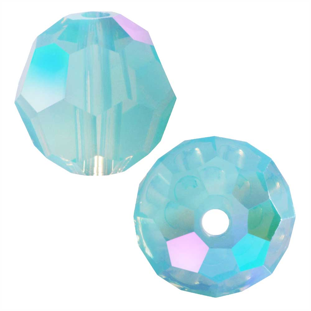 Swarovski Crystal, #5000 Round Beads 6mm, 10 Pieces, Pacific Opal Shimmer