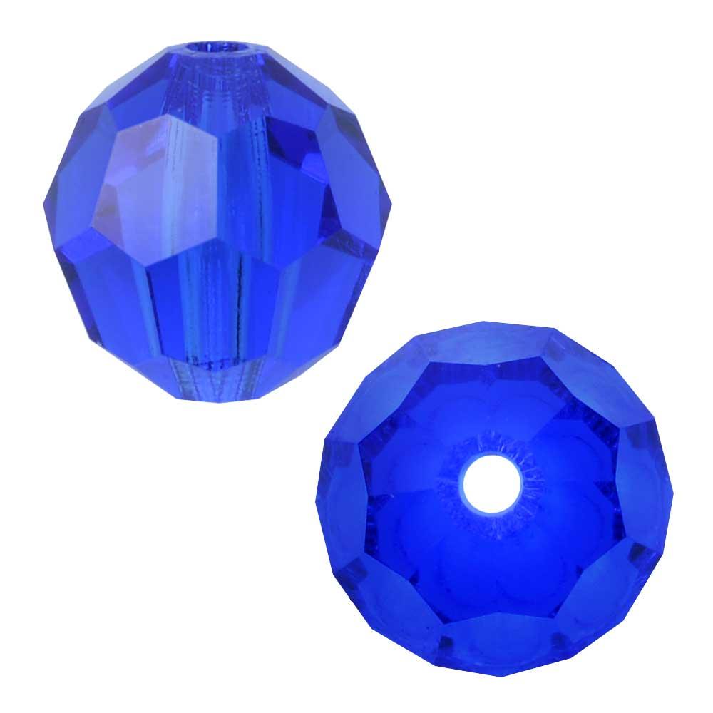 Swarovski Crystal, #5000 Round Beads 8mm, 8 Pieces, Majestic Blue