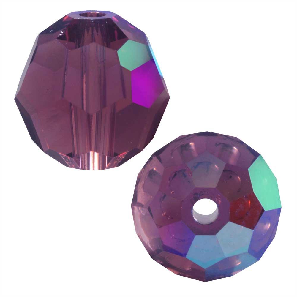 Swarovski Crystal, #5000 Round Beads 8mm, 8 Pieces, Cyclamen Opal Shimmer