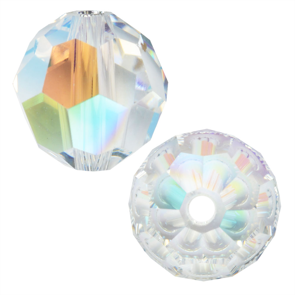 Swarovski Crystal, #5000 Round Beads 8mm, 8 Pieces, Crystal Shimmer