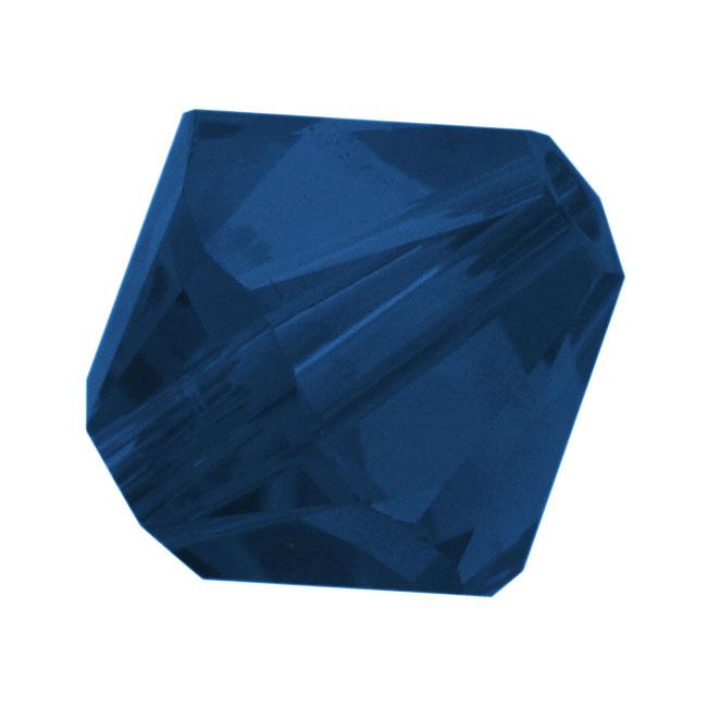 Swarovski Crystal, #5328 Bicone Beads 6mm, 20 Pieces, Dark Indigo