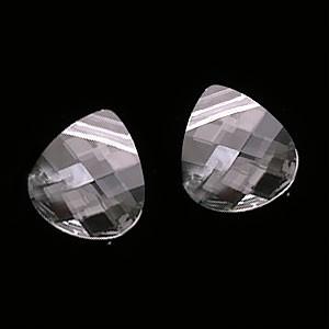 Swarovski Crystal, #6012 Briolette Pendants 11x10mm, 2 Pieces, Crystal