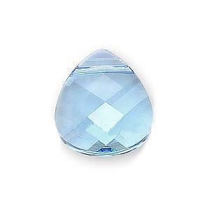Swarovski Crystal, #6012 Briolette Pendant 15x14mm, 1 Piece, Aquamarine