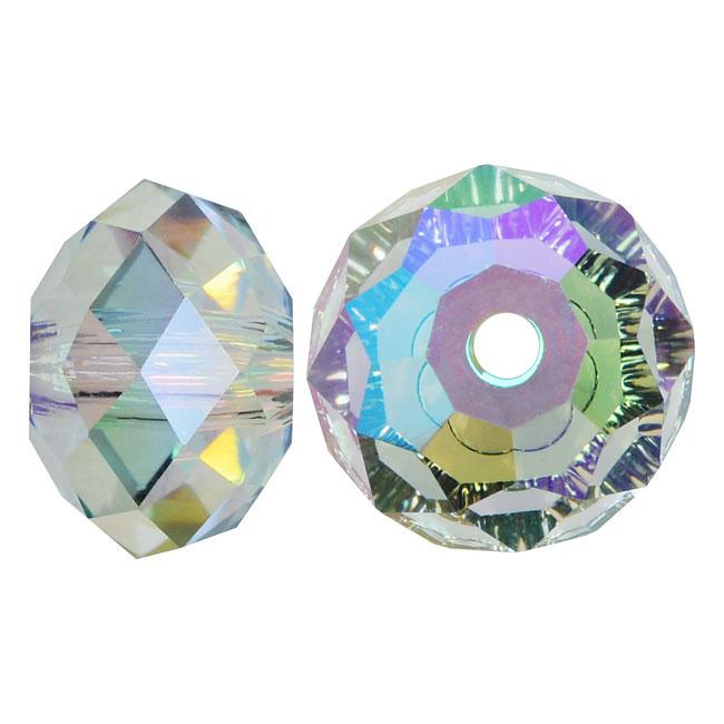 Swarovski Crystal, #5040 Rondelle Beads 6mm, 10 Pieces, Crystal Paradise Shine