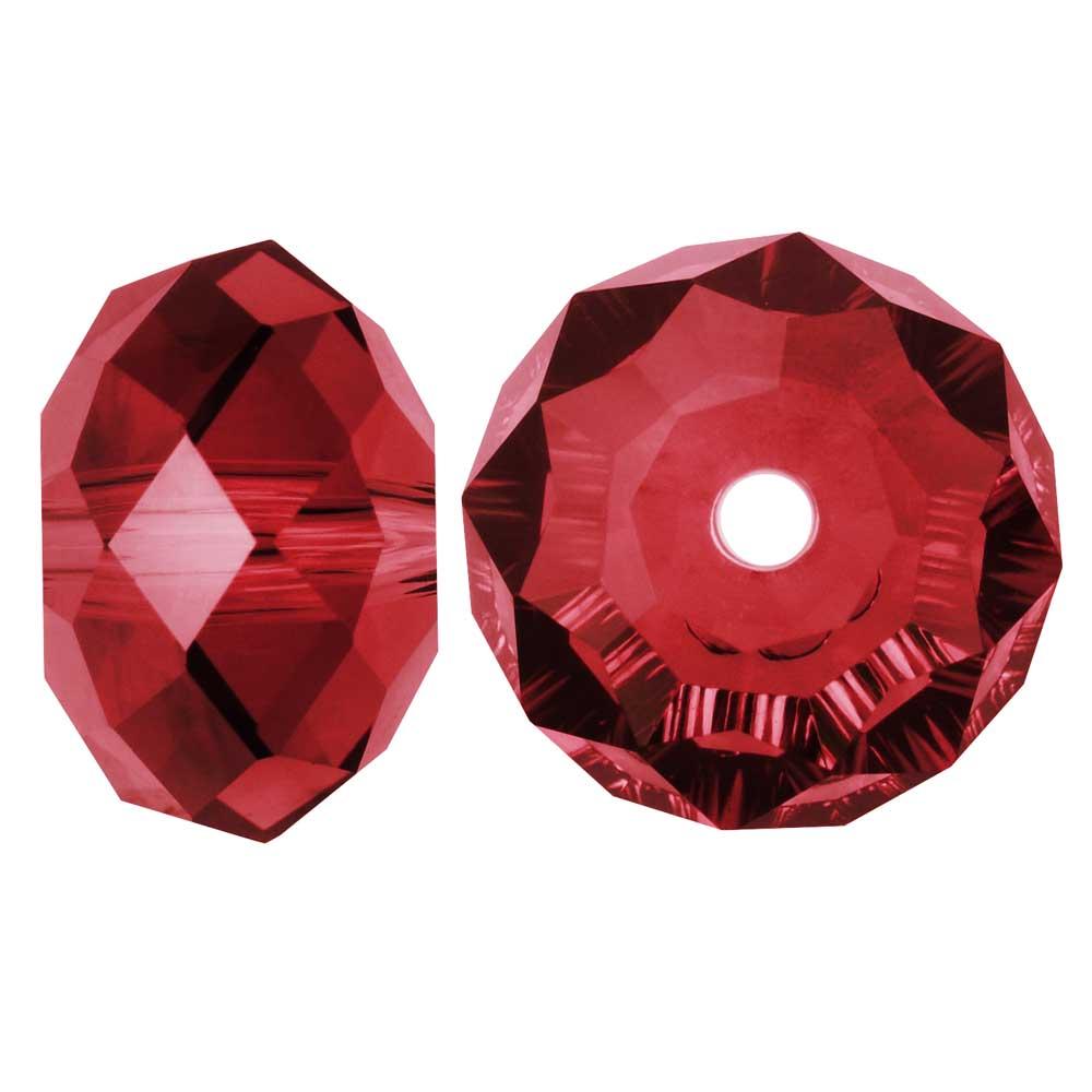 Swarovski Crystal, #5040 Rondelle Beads 6mm, 10 Pieces, Scarlet