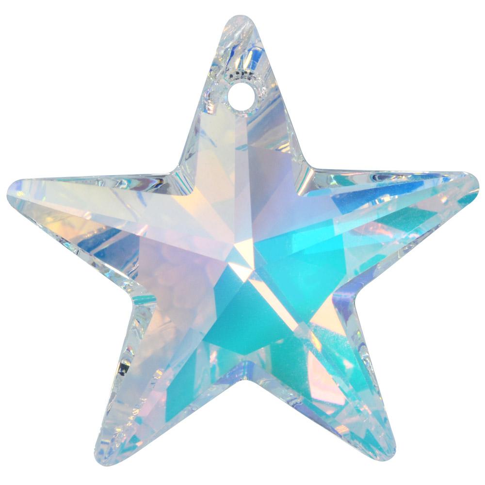 Swarovski Crystal, #6714 Star Pendant 40mm, 1 Piece, Crystal AB