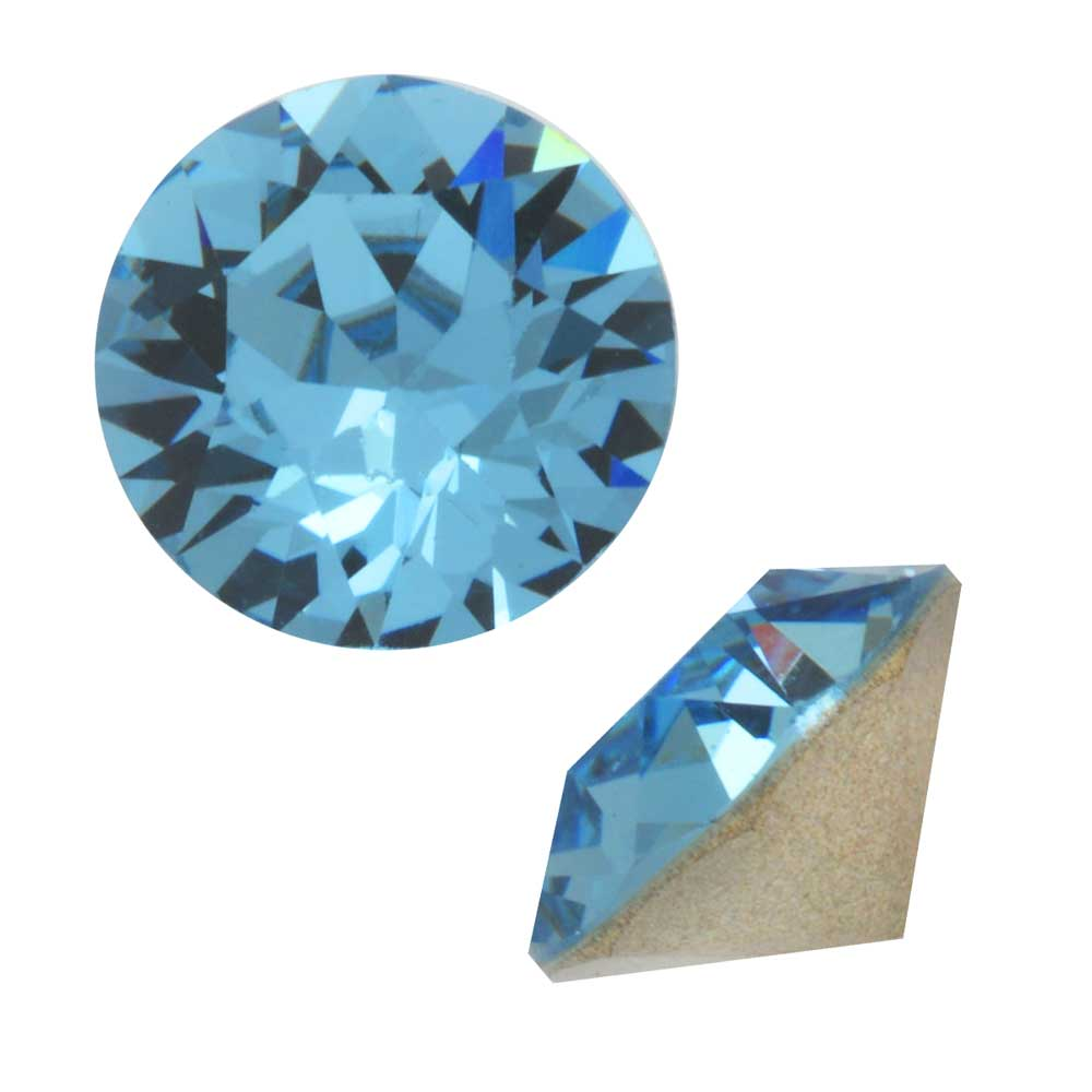 Swarovski Crystal, #1088 Xirius Round Stone Chatons pp14, 40 Pieces, Aquamarine F