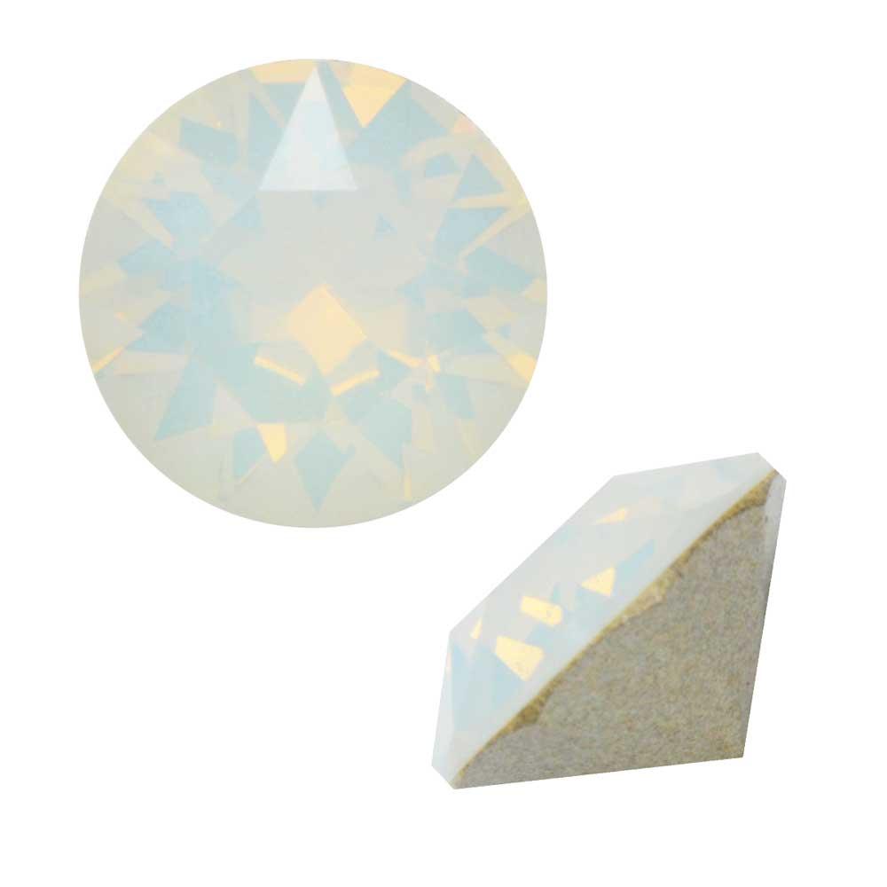 Swarovski Crystal, #1088 Xirius Round Stone Chatons ss29, 12 Pieces, White Opal F