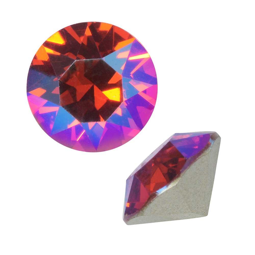Swarovski Crystal, #1088 Xirius Round Stone Chatons ss39, 6 Pieces, Light Siam Shimmer